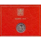 200 лет Папской жандармерии. Монета 2 евро. 2016 год, Ватикан. (в буклете!)