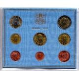 Годовой набор монет евро Ватикана в буклете. 2012 год, Ватикан.