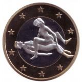 6 эросов (Sex euros). Сувенирный жетон. (Вар. 12)