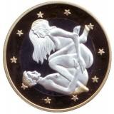 6 эросов (Sex euros). Сувенирный жетон. (Вар. 15)