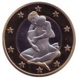 6 эросов (Sex euros). Сувенирный жетон. (Вар. 23)