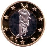 6 эросов (Sex euros). Сувенирный жетон. (Вар. 28)