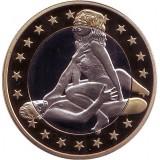 6 эросов (Sex euros). Сувенирный жетон. (Вар. 33)
