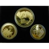 """Набор монет """"70 лет революции."""" 1, 3, 5 рублей. 1987 год, в футляре"""