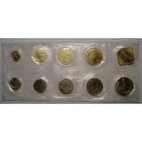 Годовой набор разменных монет СССР 1991 года ЛМД мягкая упаковка
