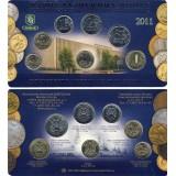 Набор разменных монет 2011 года в буклете с жетоном  ММД