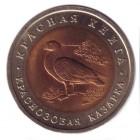 "10 рублей 1992 года ""Краснозобая казарка""  Красная книга"