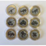 Набор  монет 10 рублей 2014 года Оружие Победы  России  (эмаль, гравировка), Россия.