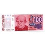 Банкнота 100 аустралей. Аргентина.