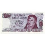 Банкнота 10 песо. Аргентина.