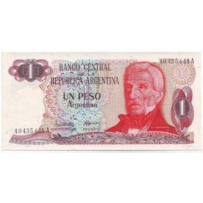 Банкнота 1 песо. Аргентина. (Вар. II).