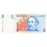 Банкнота 2 песо. Аргентина.