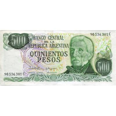 Банкнота 500 песо. Аргентина.