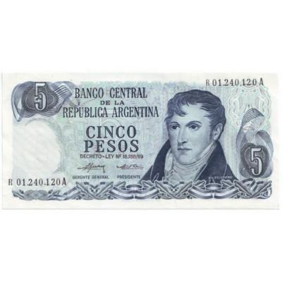 Банкнота 5 песо. Аргентина.