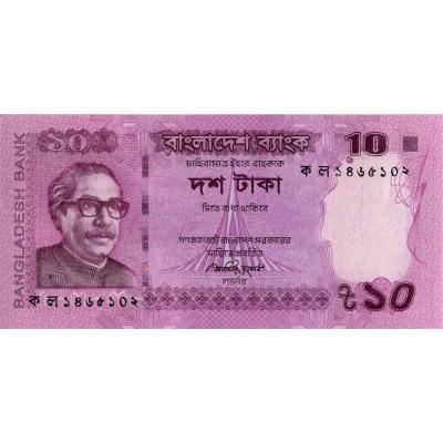Банкнота 10 така. 2012 год, Бангладеш.