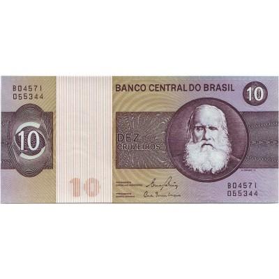 Банкнота 10 крузейро. 1980 год, Бразилия.