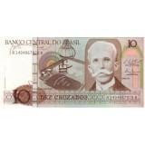 Банкнота 10 крузадо, 1987 год, Бразилия.