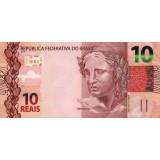 Банкнота 10 реалов, 2010 год, Бразилия.