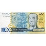Банкнота 100 крузадо, 1987 год, Бразилия.
