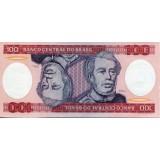 Банкнота 100 крузейро. 1984 год, Бразилия.