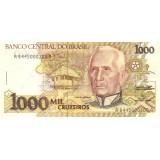 Банкнота 1000 крузейро. 1990 год, Бразилия.