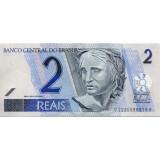 Банкнота 2 реала, Бразилия.