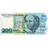 Банкнота 200 крузейро. 1990 год, Бразилия.