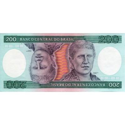 Банкнота 200 крузейро. 1981-84 гг., Бразилия.