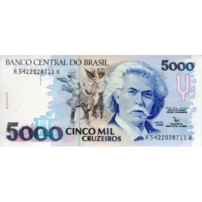 Банкнота 5000 крузейро. Бразилия.