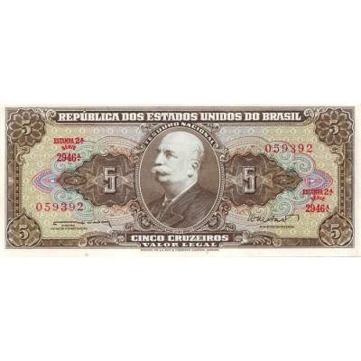 Банкнота 5 крузейро. Бразилия.
