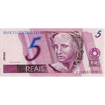 Банкнота 5 реалов, Бразилия.
