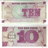 Банкнота 10 пенсов. Великобритания (Британская Армия). 6 серия.