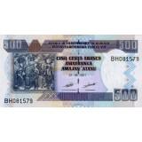 Банкнота 500 франков. 2011 год, Бурунди.