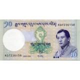 Банкнота 10 нгултрумов. 2006 год, Бутан.