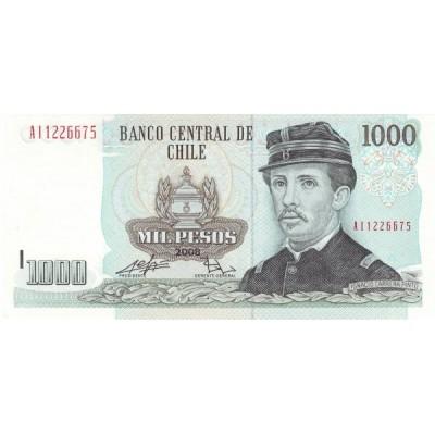 Банкнота 1000 песо. 2008 год, Чили.