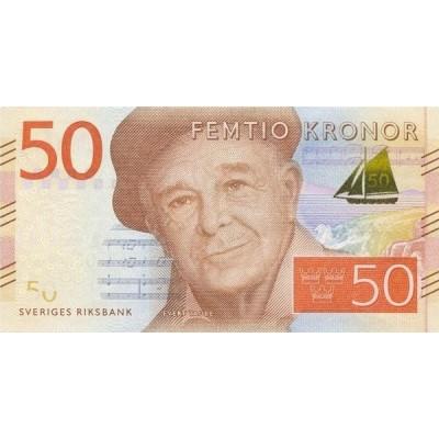 Банкнота 50 крон. 2015 год, Швеция.