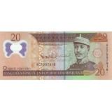 Банкнота 20 песо. 2009 год, Доминиканская Республика.