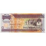 Банкнота 50 песо. 2012 год, Доминиканская Республика.