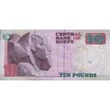 Банкнота 10 фунтов. 2015 год, Египет.