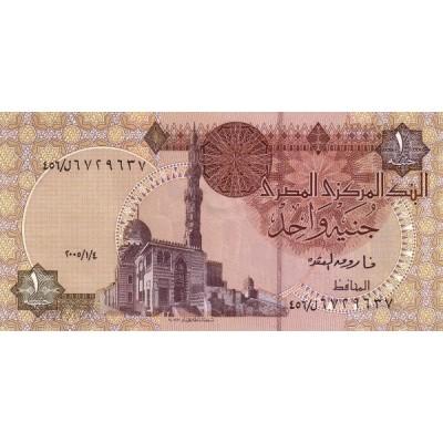 Банкнота 1 фунт. 2007 год, Египет.