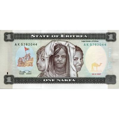 Банкнота 1 накфа. 1997 год, Эритрея.