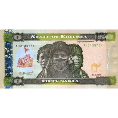Банкнота 50 накфа, 2011 год, Эритрея.