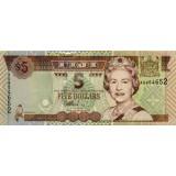 Банкнота 5 долларов, Фиджи.