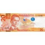 Банкнота 20 песо. 2012 год, Филиппины.