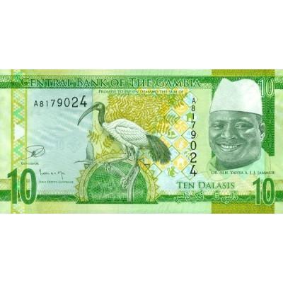 Банкнота 10 даласи, 2015 год, Гамбия.