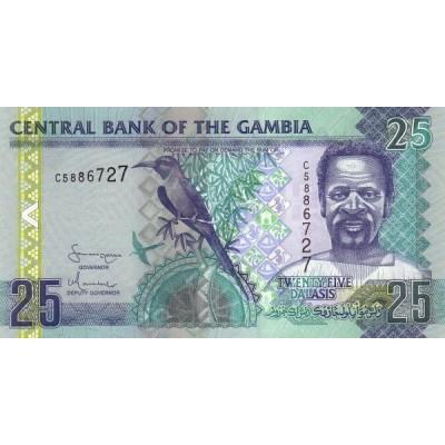 Банкнота 25 даласи, 2006 год, Гамбия.