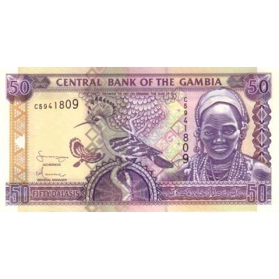 Банкнота 50 даласи, 2001 год, Гамбия.