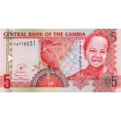 Банкнота 5 даласи, 2013 год, Гамбия.