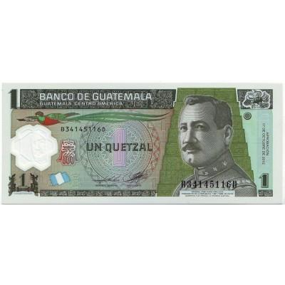 Банкнота 1 кетцаль. 2012 год, Гватемала.
