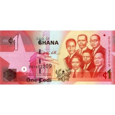 Банкнота 1 седи, 2010 год, Гана.